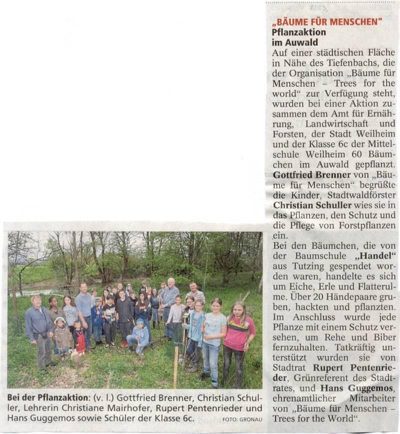 Wiederaufforstung Schulwald - Kreisbote