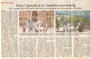 Neue Operation in Namibia notwendig