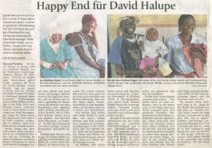 Happy End für David Halupe