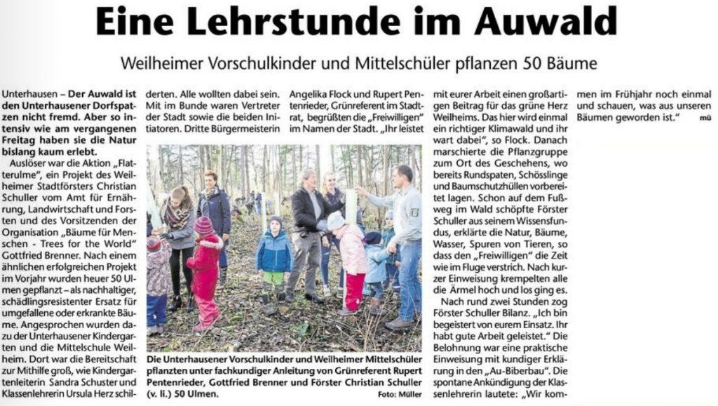 Aufforstung_Schulwald_Unterhausen